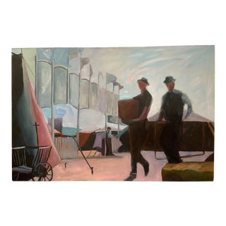 """Fairgrounds"" Contemporary Figurative Painting For Sale"