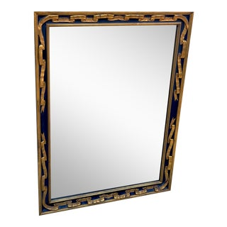 Italian Parcel Gilt Ribbon Style Neoclassical Wall Mirror For Sale