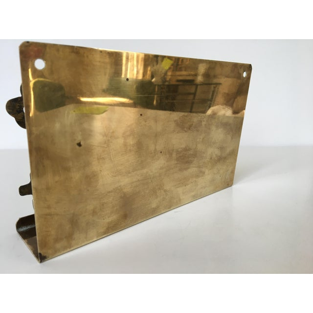 Mid-Century Modern Mid-Century Brass House & Fence Letter Holder and Key Rack For Sale - Image 3 of 9