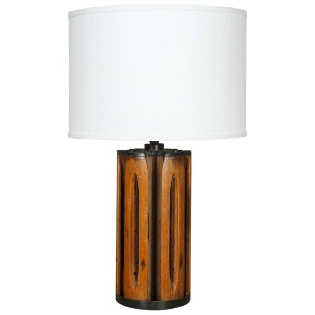 Shuttle Barrel Table Lamp For Sale