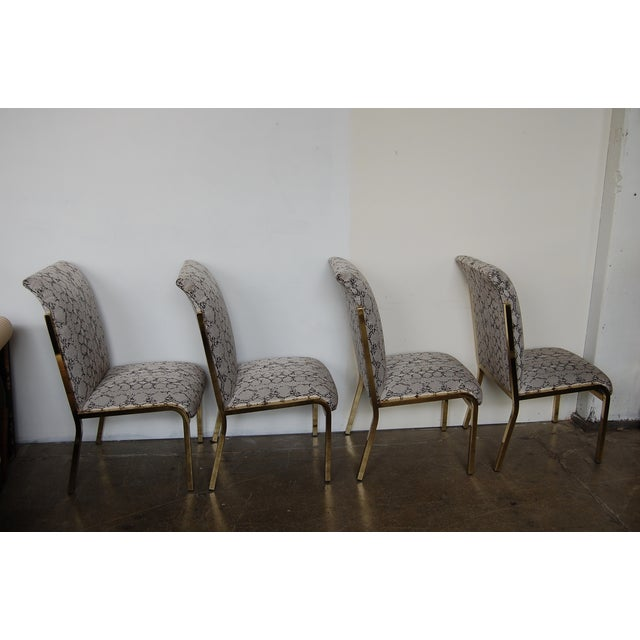 Python & Brass Vintage Dining Chairs - Set of 4 - Image 5 of 11