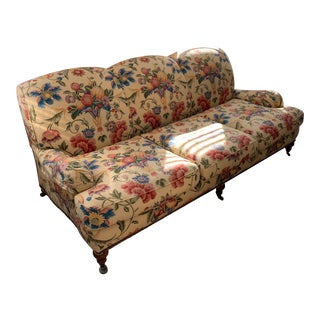 Modern ABC Carpet Floral Print Sofa For Sale