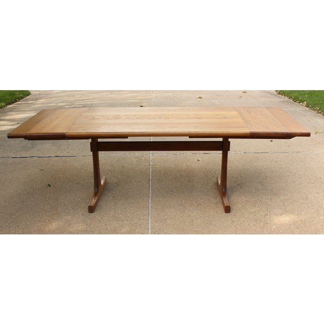 Conant Ball Conant Ball Oak Dining Table and 8 Chairs For Sale - Image 4 of 11