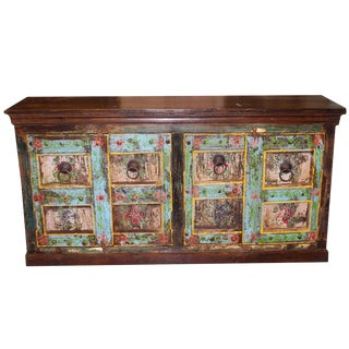 1920s Asian Antique Reclaimed Wooden Sideboard For Sale
