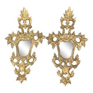 Vintage French Rococo Mirrors - a Pair For Sale