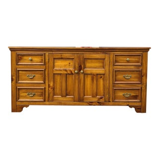Antiqued Pine Triple Dresser by Pennsylvania House For Sale