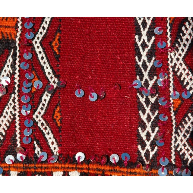 White Moroccan Tribal Wedding Rug With Sequins North Africa For Sale - Image 8 of 9