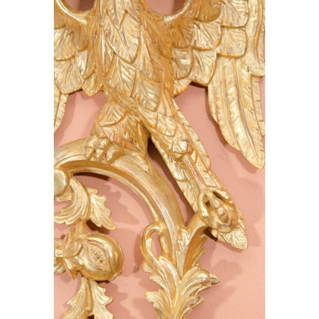 Pair of Rococo Giltwood Phoenix Brackets For Sale In New York - Image 6 of 8