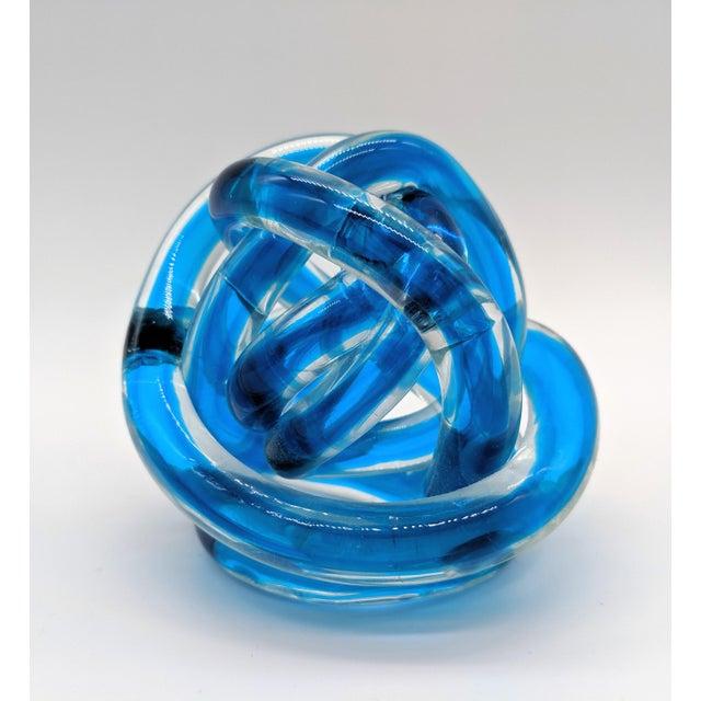 2010s Contemporary Cobalt Blue Knots - Set of 3 For Sale - Image 5 of 9
