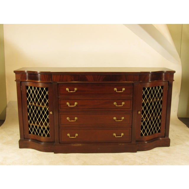 Regency Style Inlaid Mahogany Sideboard For Sale - Image 9 of 9