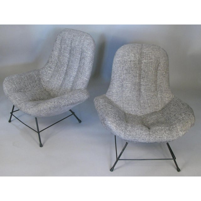 A pair of very comfortable vintage 1950s Italian lounge chairs, originally purchased at R Gallery in NYC. these are...