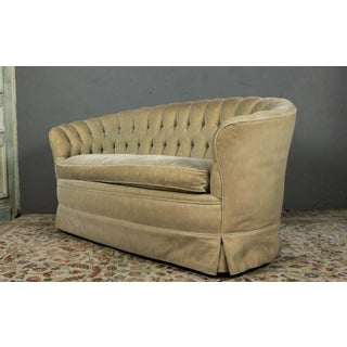 Small Tufted Sofa With Loose Seat Cushion Preview
