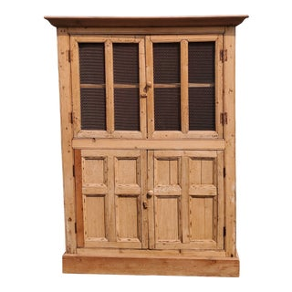 Antique Wormwood Country Rustic Cabinet For Sale