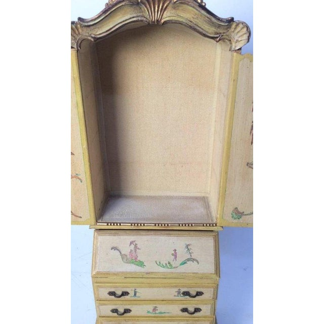 Vintage Wooden Jewelry Chest - Image 8 of 11