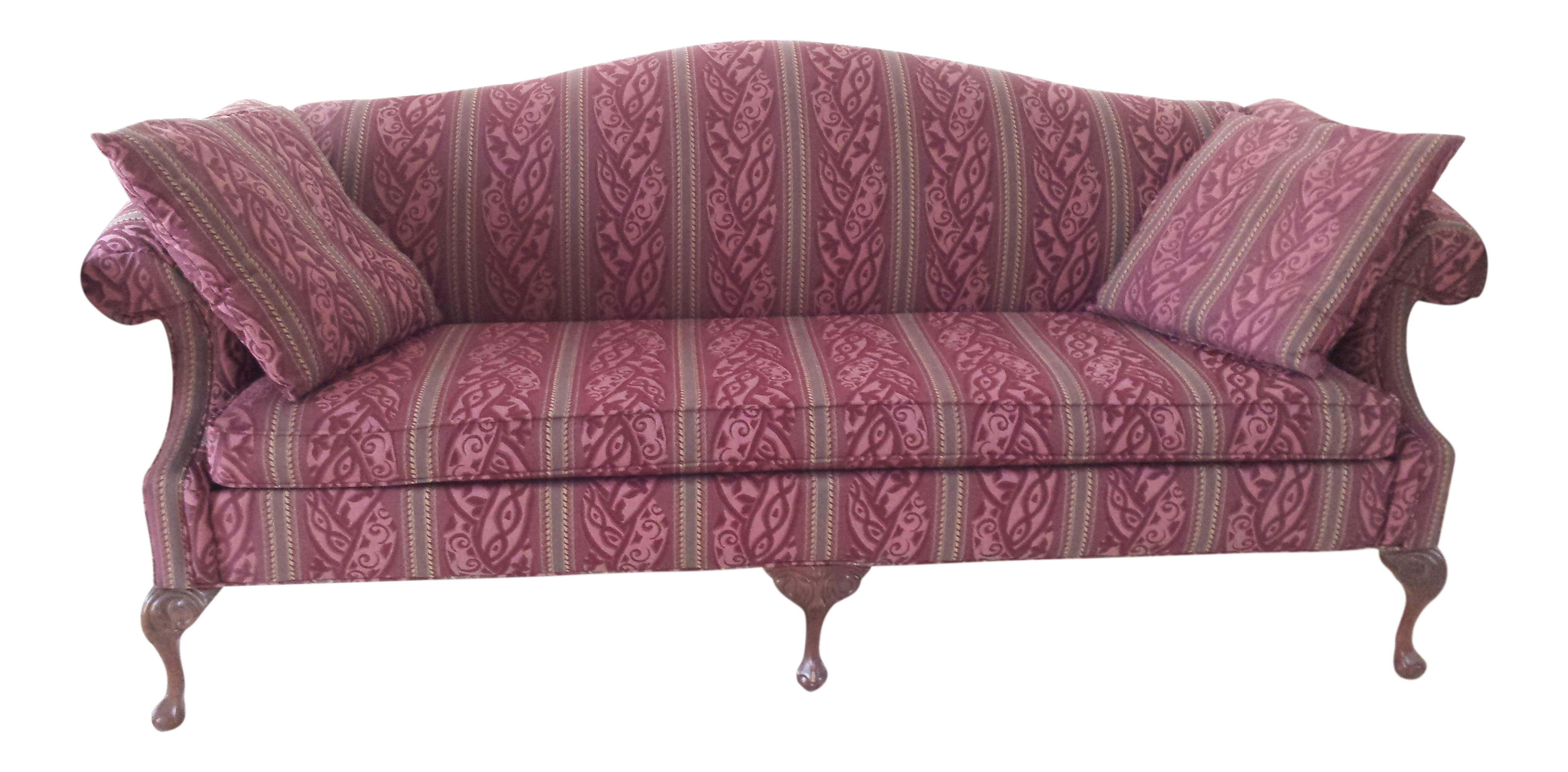 Queen Anne Sofa U0026 Wingback Chair   A Pair   Image 4 Of 11