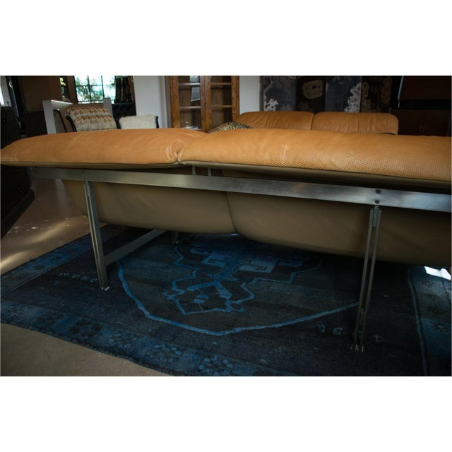 Saporiti Giovanni Offredi 'Wave' Leather Sofa by Saporiti, Italy For Sale - Image 4 of 13
