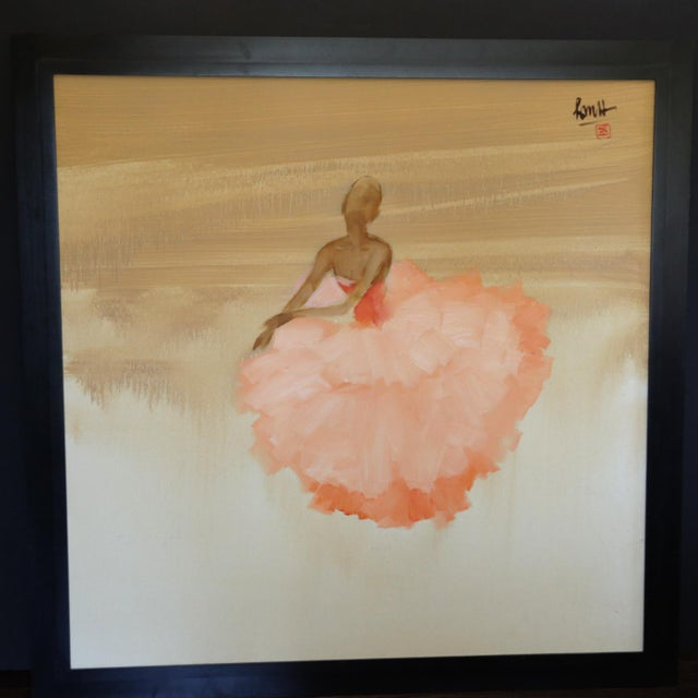 """Ballerina Pink"" Oil on Canvas - Image 3 of 4"