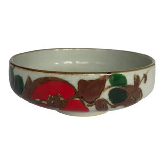 Mid Century Hand Painted Bowl For Sale
