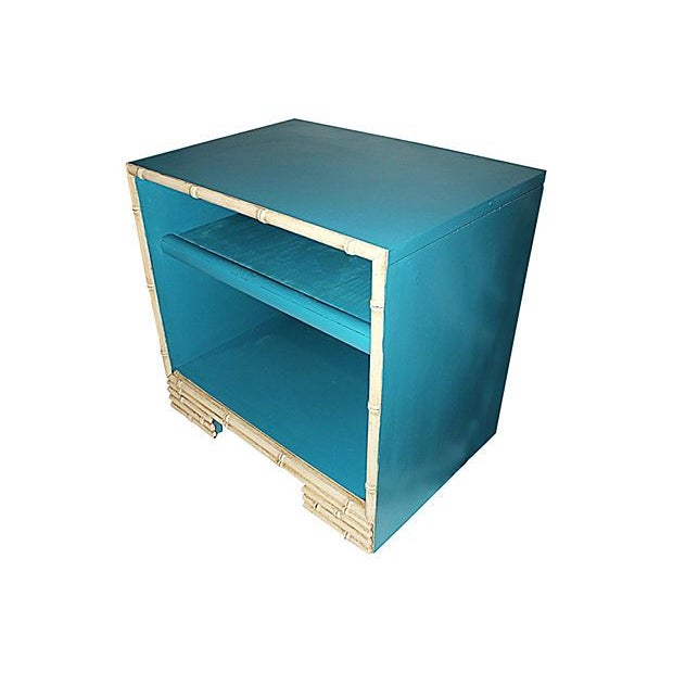 Painted Faux-Bamboo End Table - Image 2 of 3