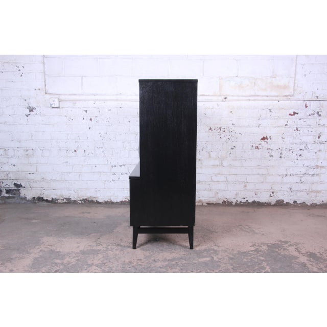 Broyhill Brasilia Mid-Century Modern Ebonized Gentleman's Chest, 1966 For Sale - Image 11 of 13