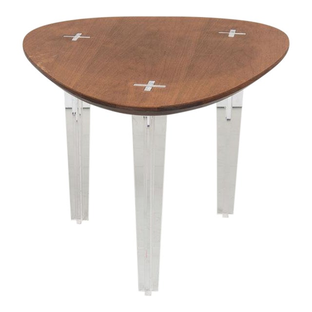 Mid-Century Heart Shape Coffee Table Lucite Legs - Image 1 of 4