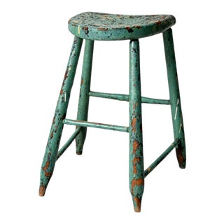 Antique Primitive Stool For Sale