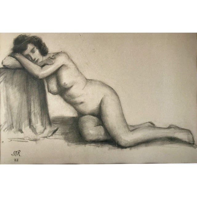 Portraiture J. Mason Reeves Original Nude Drawing 1962 For Sale - Image 3 of 7