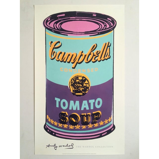 """Andy Warhol Foundation Lithograph Print Pop Art Poster """" Campbell's Soup Can """" 1965 For Sale - Image 10 of 11"""