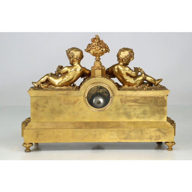 Gilt Bronze & Porcelain Mantel Clock - Image 4 of 11