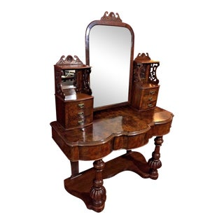 19th Century Victorian Walnut Dressing Table