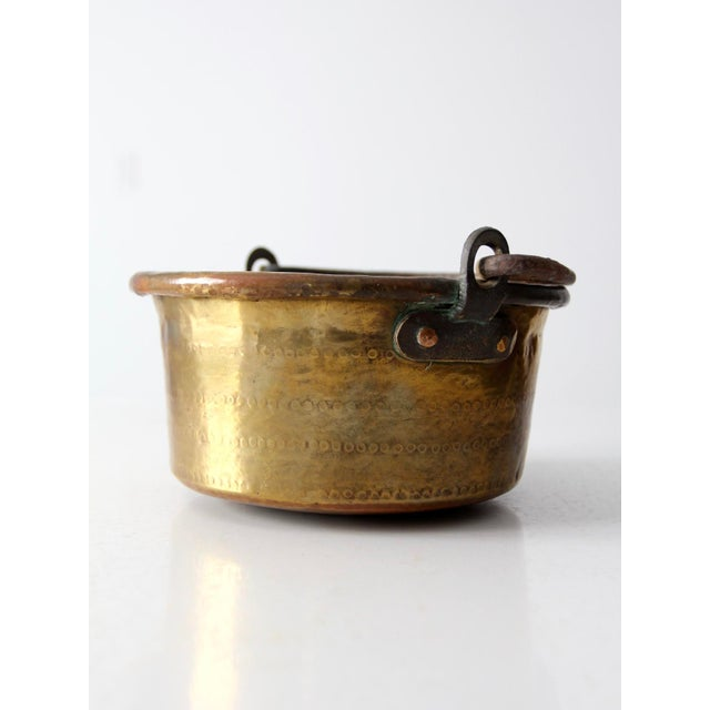 Antique Brass Plated Copper Pot - Image 7 of 8