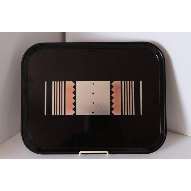 Art Deco Machine Age Art Deco Micarta Tray Set by George Switzer for Westinghouse For Sale - Image 3 of 11