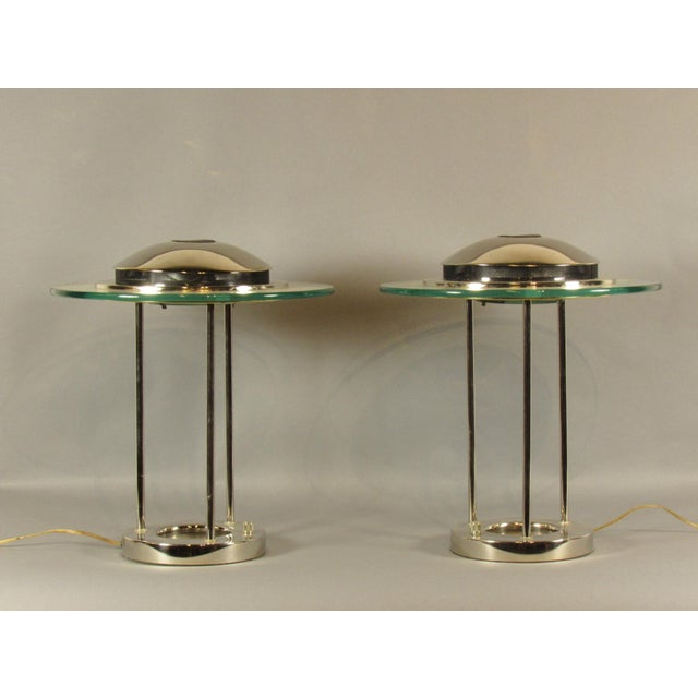 Silver Sonneman Saturn Lamps - A Pair For Sale - Image 8 of 8