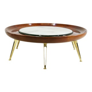 Gio Ponti Style Coffee Table Late 90s and Early 2000s For Sale