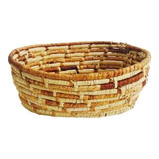 Vintage Oval Coil Basket