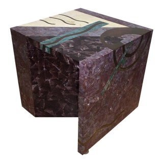 Tavola by Oggetti Tessellated Stone End Table For Sale