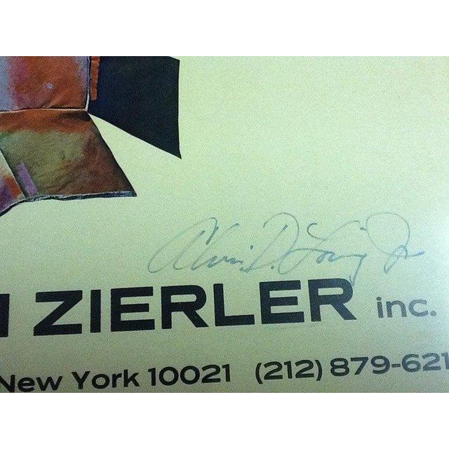 Rare Signed Alvin Loving Poster Exhibition at William Zierler Gallery For Sale - Image 4 of 5