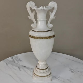 Antique Neoclassical Alabaster Table Lamp Preview