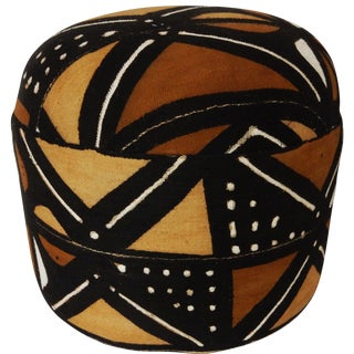 African Mud Cloth Ottoman For Sale