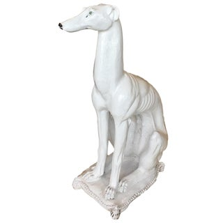Italian Made Greyhound or Whippet Statue For Sale