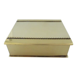 Vintage Jacobson Hollywood Regency Brass Trinket or Jewelry Box For Sale