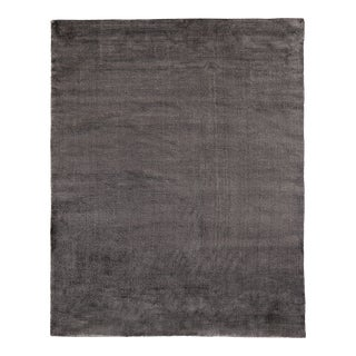 Exquisite Rugs Milton Hand Loom Viscose Dark Gray - 9'x12' For Sale