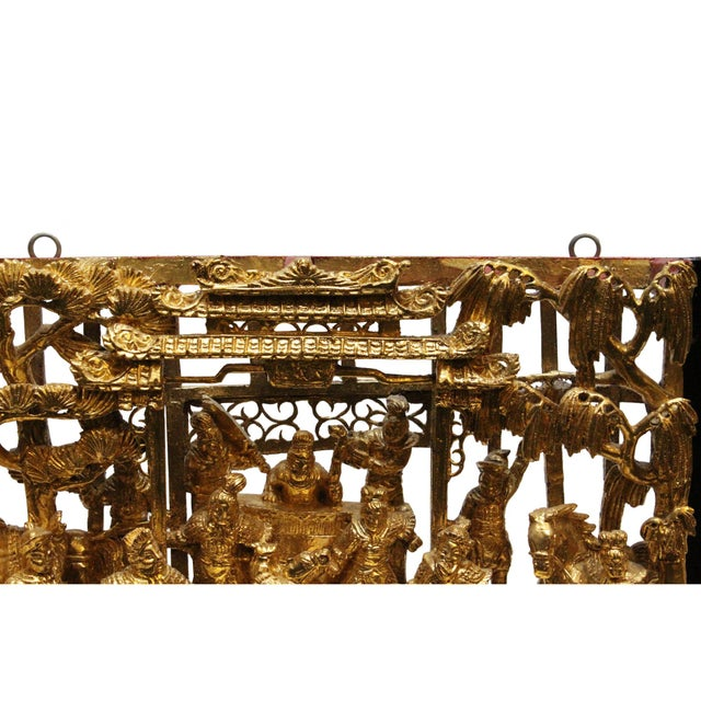 Chinese Vintage Restored Warfield Opera Scenery Wooden Panel Wall Art For Sale - Image 4 of 9