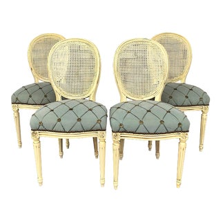 Louis XVI Chairs - Set of 4 in Ivory For Sale