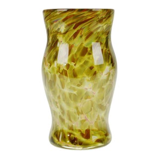 Handcrafted & Hand-Blown Art Glass Vessel For Sale