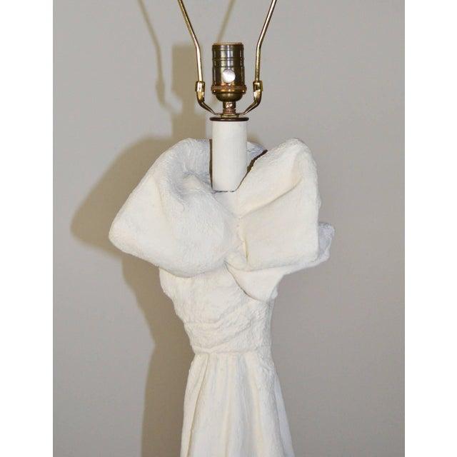 John Dickinson Draped Plaster Floor Lamps in the Manner of John Dickinson - A Pair For Sale - Image 4 of 7