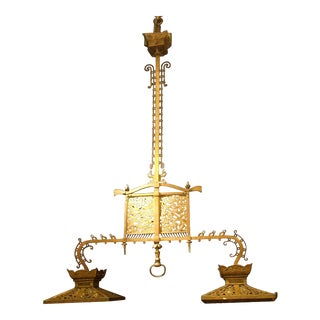 Antique Chandelier. American Antique Billiard Light For Sale