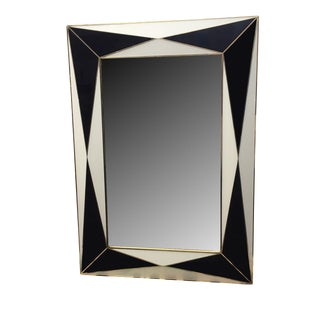 Midnight Blue and White Expansion Mirror by MarGian Studio For Sale