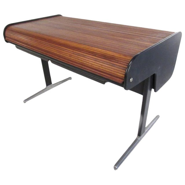 George Nelson for Herman Miller Mid-Century Tambour Roll-Top Desk For Sale