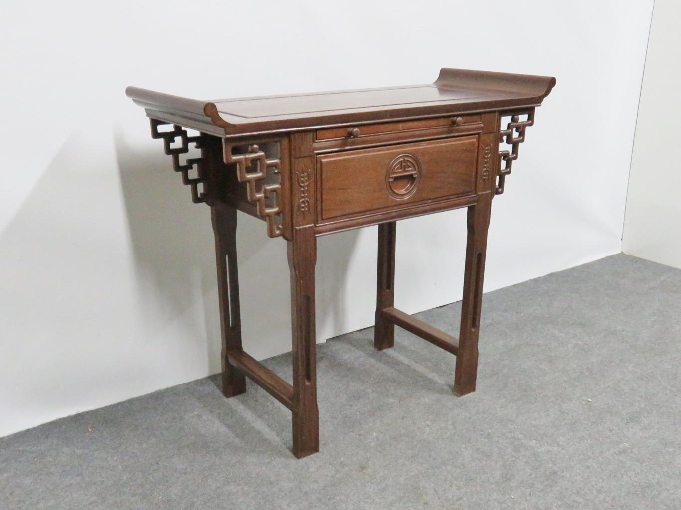 Rosewood Chinese Rosewood Altar Style Console Table For Sale   Image 7 Of 7